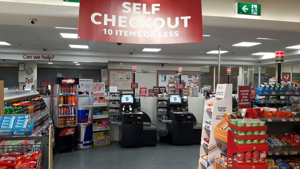 11 self service checkout