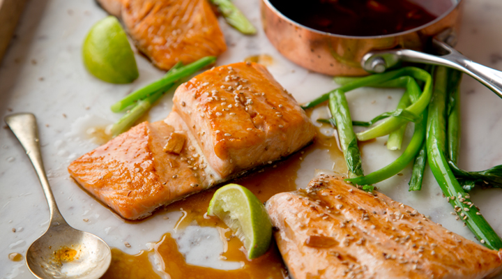 Salmon With Soy And Sesame Dressing