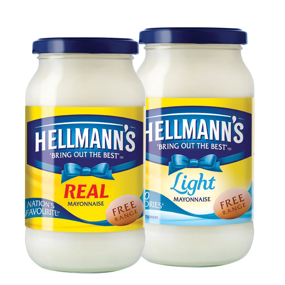 Hellmann's Real/Light Mayonnaise 400g