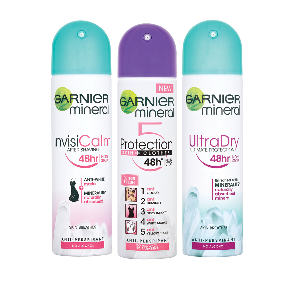 Garnier Mineral Deodorant Spray Range 150ml