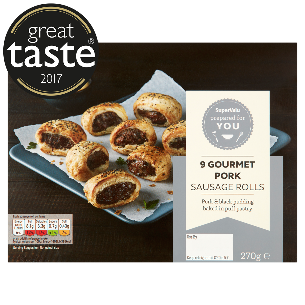 SuperValu Deli Gourmet Sausage Roll with Black Pudding 270g