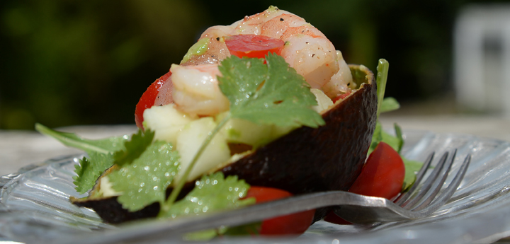 Prawn, Avocado And Melon Salad