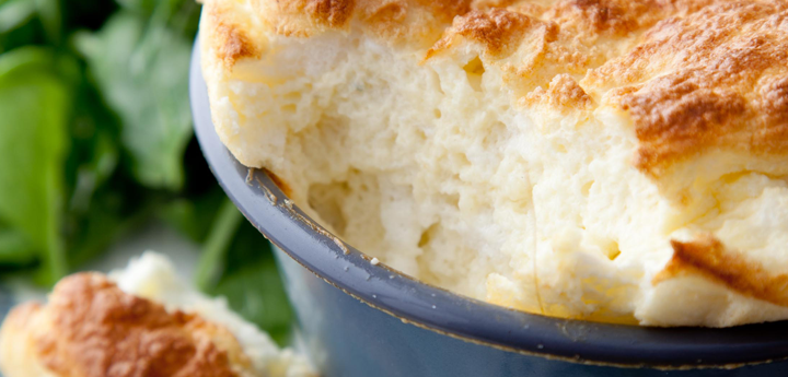 My Blue Cheese Soufflés are a perfect dinner party option