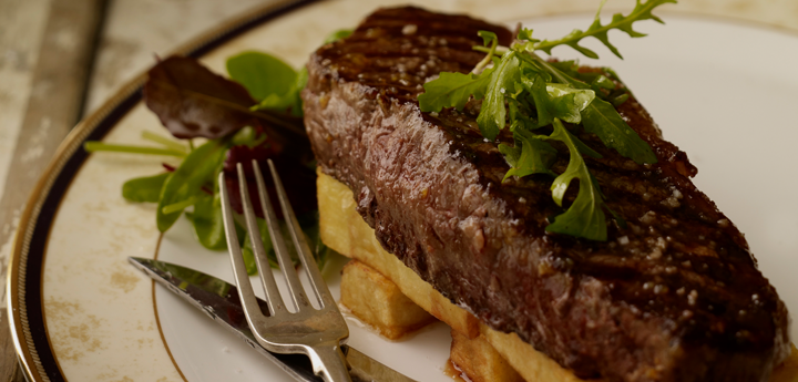 You can never go wrong on Valentines with a steak and chunky chips