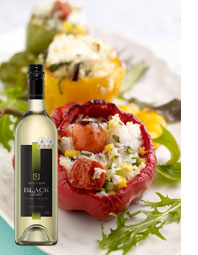 Stuffed Peppers & Mcguigan Black Label Pinot Grigio
