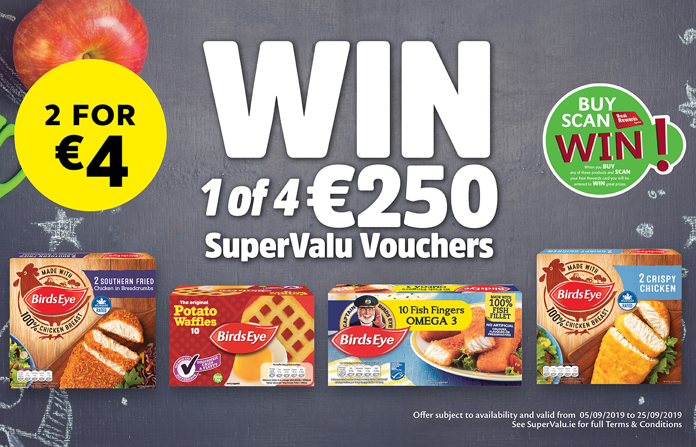 Save on family favourites and be in with a chance to WIN 1 of 4 €250 SuperValu Shopping Vouchers