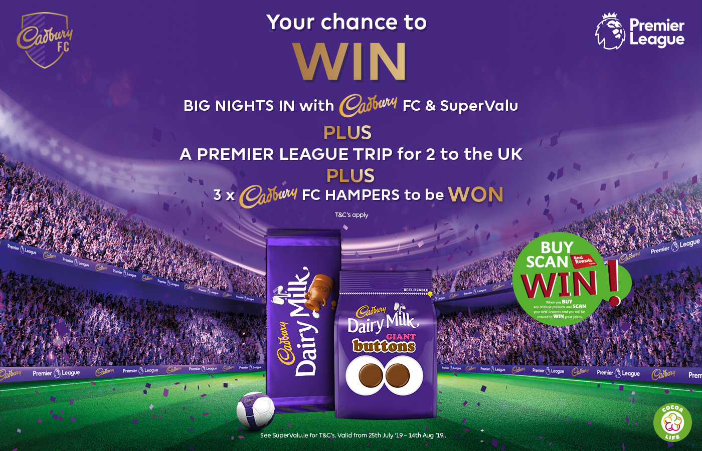 Be in with a chance to WIN Big Match Nights in with Cadbury
