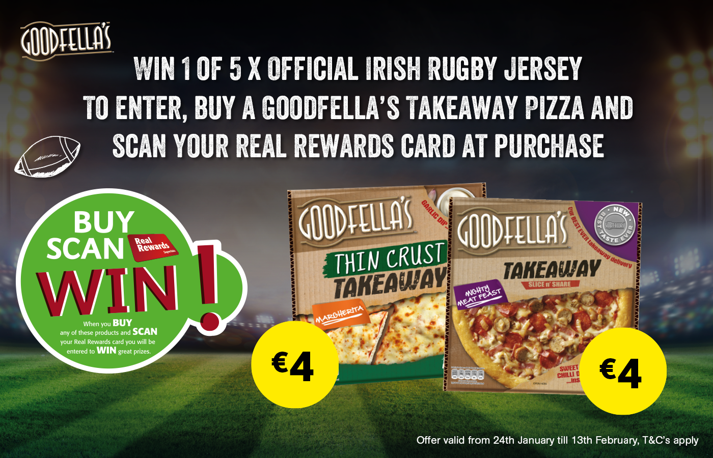 Be in with the chance of winning an Official Irish Rugby Jersey!