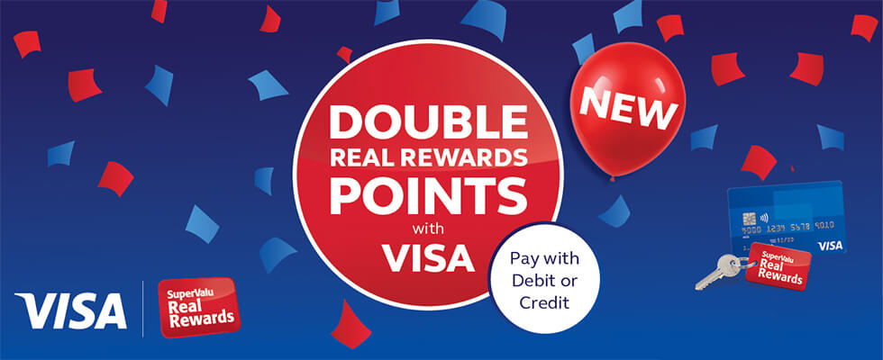 Double Real Rewards Points with Visa