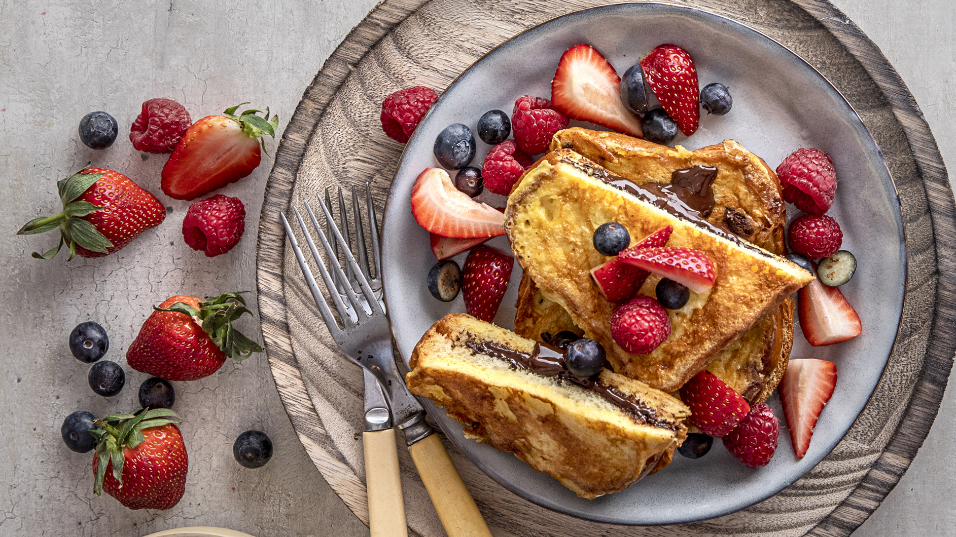 Stuffed Brioche French Toast With Fresh Berries Supervalu