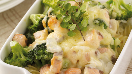 Salmon And Broccoli Pasta Bake