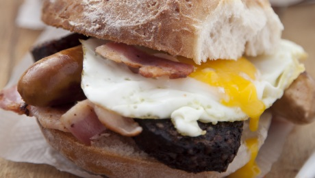 Simple sausage, bacon and egg sandwich - SuperValu