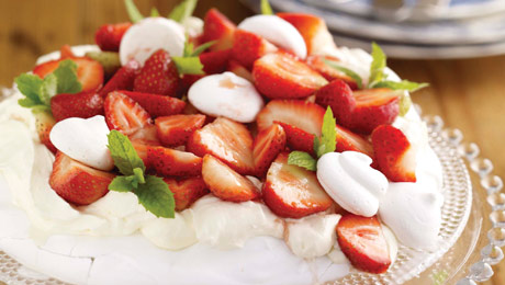 Pavlova With Summer Berries & Kiwifruit Recipe — Dishmaps