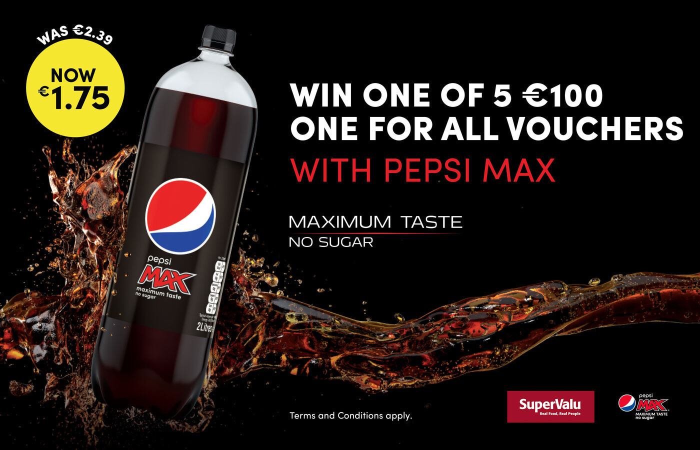 WIN A €100 One for All Voucher with Pepsi Max!