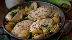 Chicken leak potatoes recipe