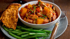 Chicken butternut bacon casserole recipe