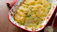 Gratin smoked haddock rooster potatoes gubbeen cheese recipe