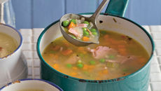Ham broth pearl barley peas recipe
