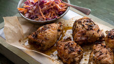 Jerk chicken red cabbage coleslaw recipe