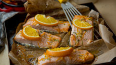 Oven baked salmon chopped orange recipe