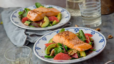 Salmon grapefruit avocado salad recipe