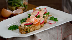 Seafood tartine potato bread recipe