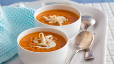 Spicy roast red pepper sweet potato soup recipe