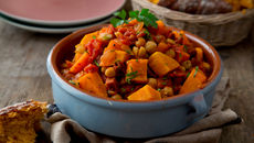 Sweet potato chickpea chorizo stew recipe