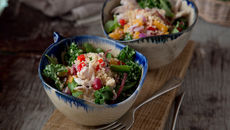 Turkey quinoa kale salad recipe