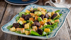 Black pudding apple salad recipe