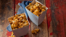 Cheesy cauliflower popcorn recipe