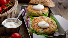 Cod burgers yogurt mayo recipe
