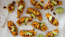 Crispy stuffed sweet potato recipe