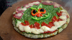 Green ghouly pizza recipe