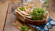 Pea mint feta dip recipe