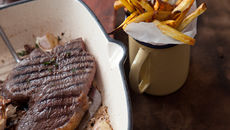 Steak parsnip sweet potato recipe
