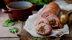 Tomato stuffed pork fillets recipe