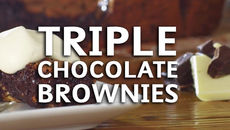 Triple Choc Brownies
