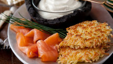 Centenary 1916 potato pancakes smoked salmon