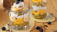 Happy mango chia seed pudding