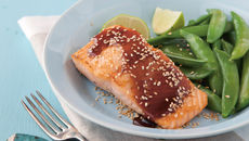 Martin fish salmon with sesame soy dressing