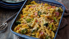 Bacon, Broccoli & Blue Cheese Pasta Bake