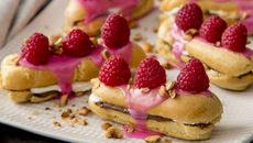Raspberry hazelnut eclairs recipe