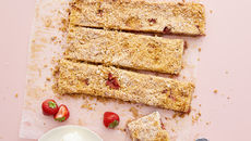 Strawberry crumble slice recipe