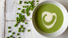 Pea and mint soup recipe