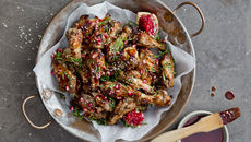 Pomegranate chicken wings recipe