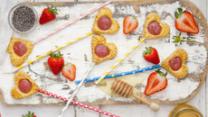 Strawberry pie pops recipe