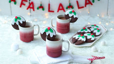 Christmas pudding hot chocolate cookie