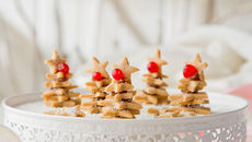 Christmas tree cookie stack