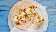 Fish tacos with heirloom tomato salsa and red cabbage recipe